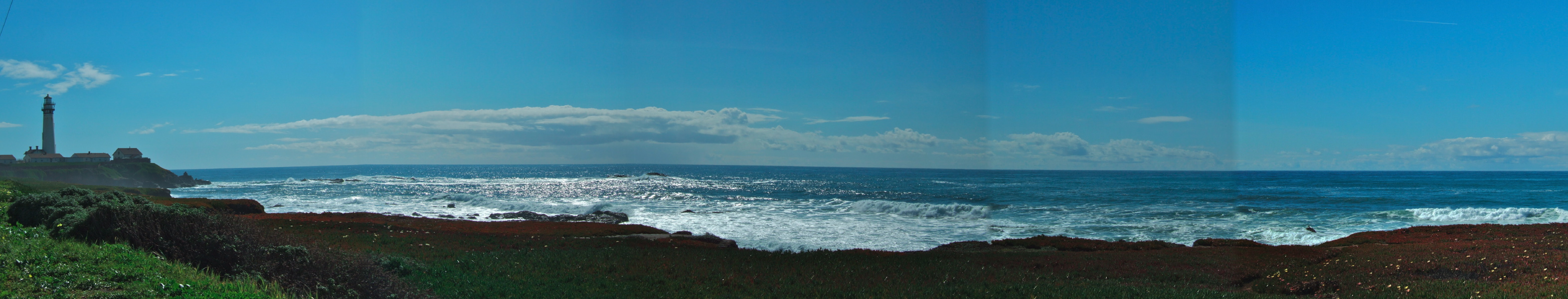 Ocean Panorama From North Of Pigeon Point Lighthouse