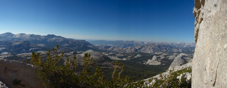 Cathedral Peak Panorama west - 9/2013