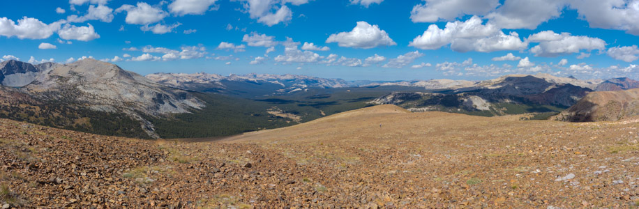 Mount Gibbs west ridge panorama 3 - 9/2014