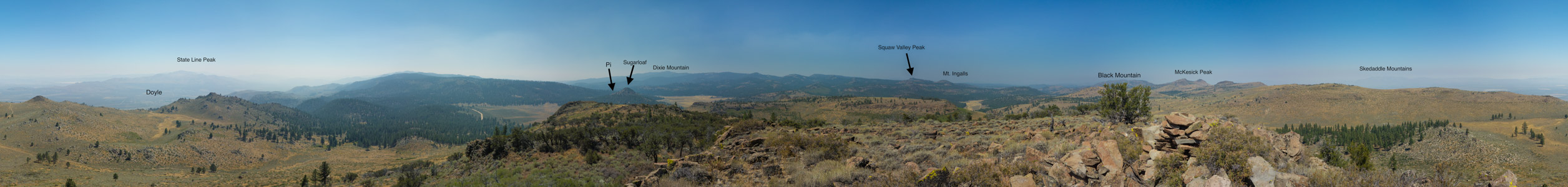 Panorama from Meadow View Peak - 8/2015