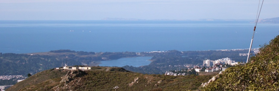 Pt Reyes from San Bruno Mountain - 12/2008