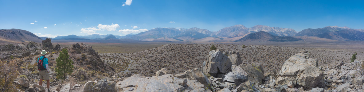 Sierra Crest from Panum Crater - 9/2016