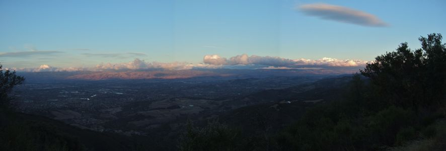 Sunset over San Jose from Kennedy Trail - 11/2012