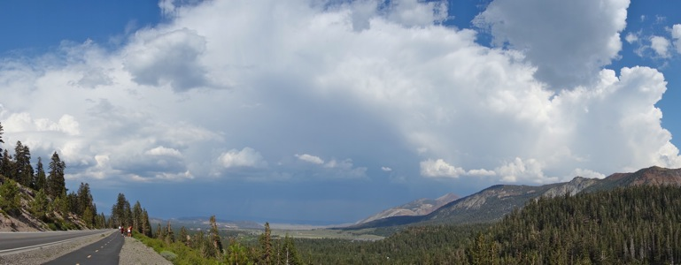 Thunderstorm over Mammoth Lakes - 7/2013
