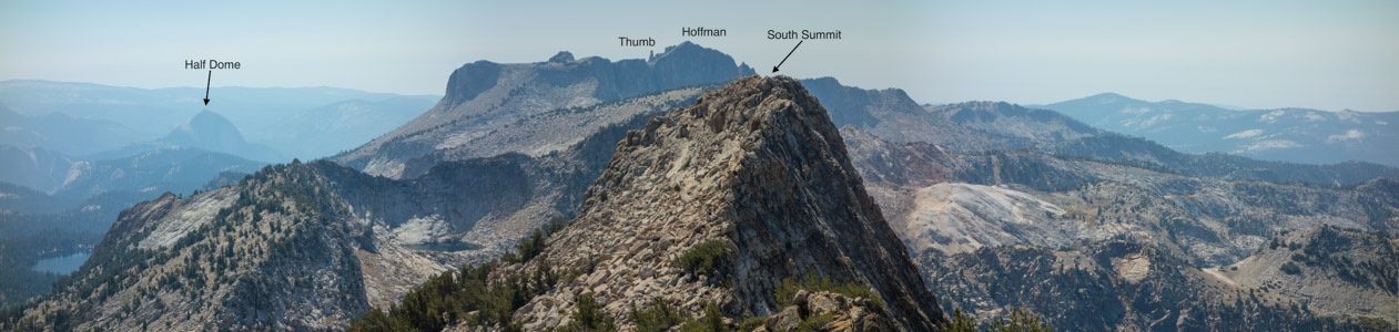 View south from Tuolumne Peak - 9/2015