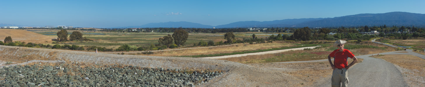View south from top of old landfill at Byxbee Park - 7/2015